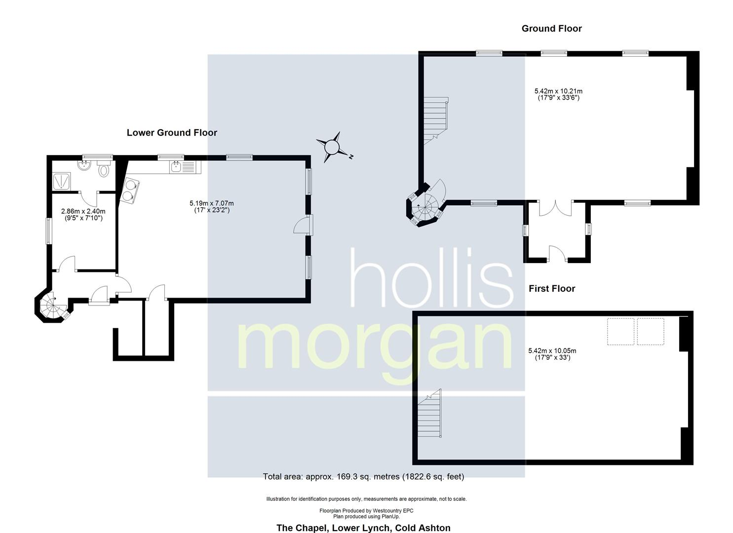 Floorplans For DETACHED CHAPEL WITH STUNNING VIEWS