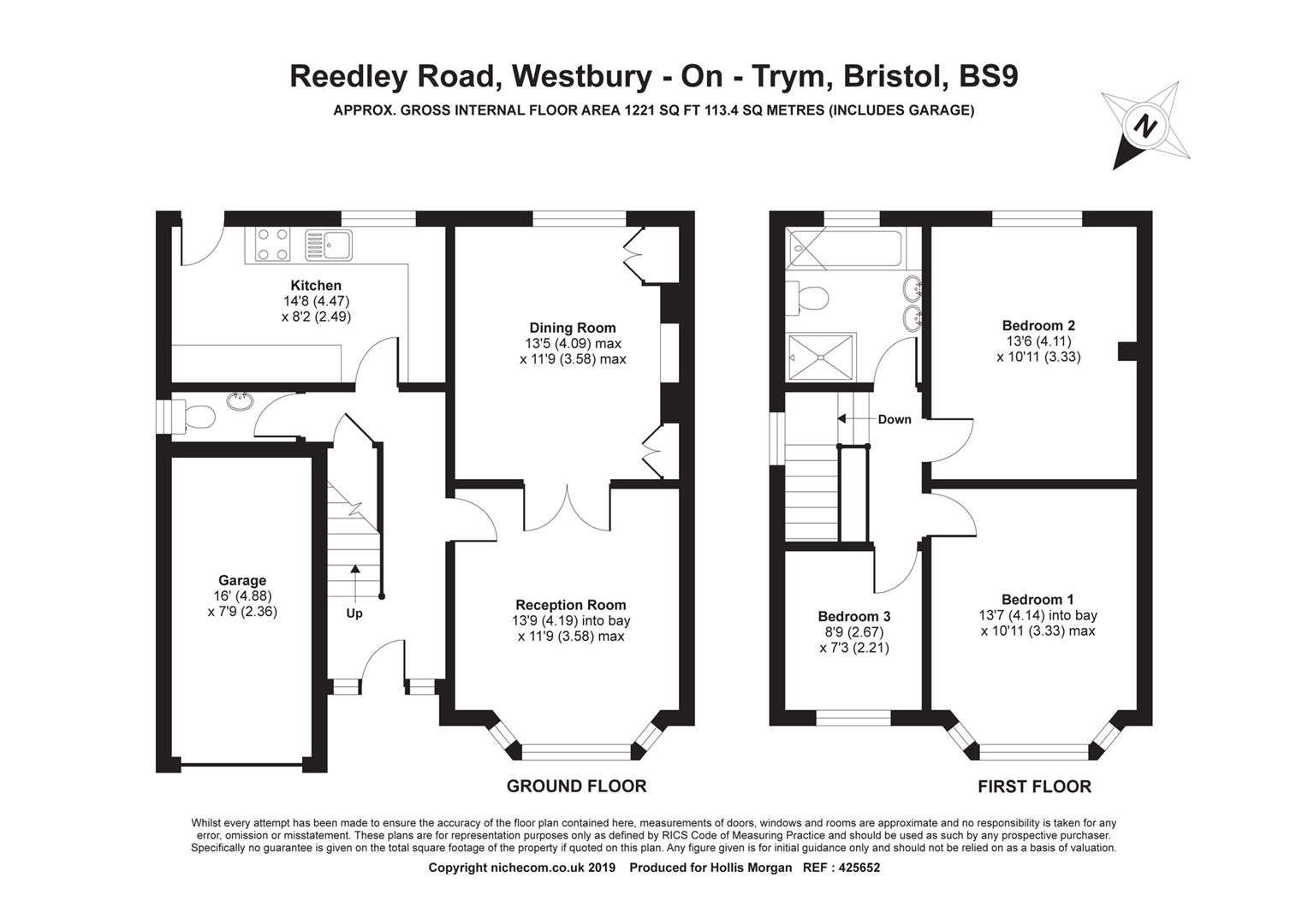 Floorplans For Reedley Road, Stoke Bishop