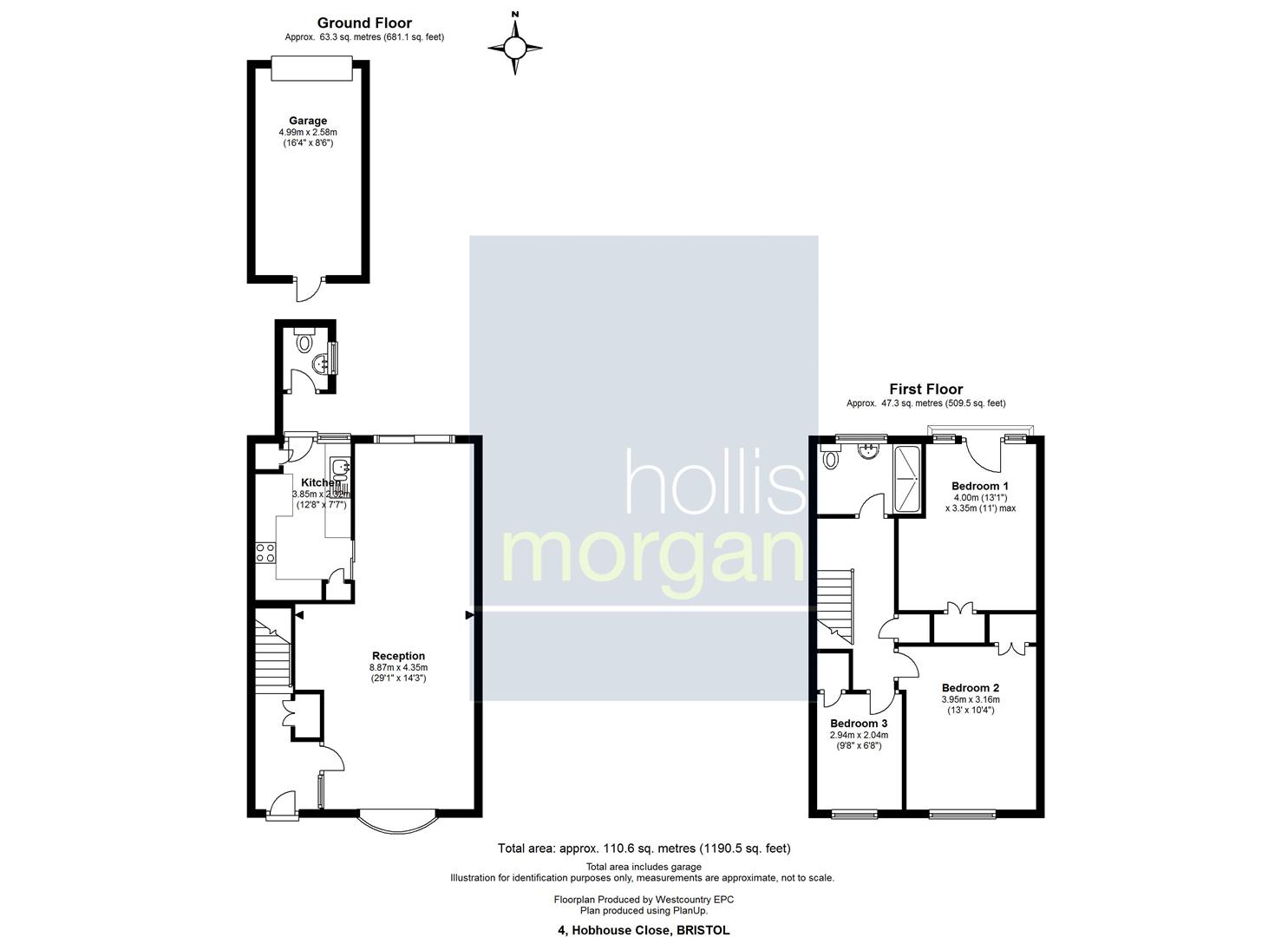 Floorplans For Hobhouse Close, Henleaze