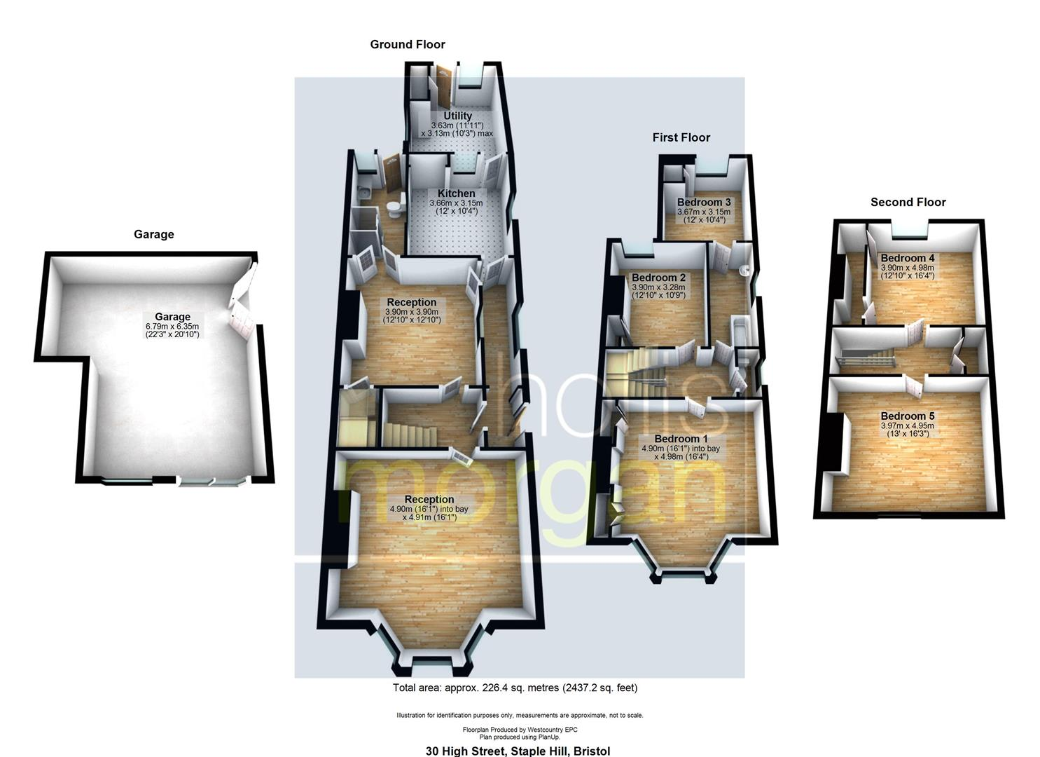 Floorplans For HOUSE FOR MODERNISATION - PLANNING GRANTED