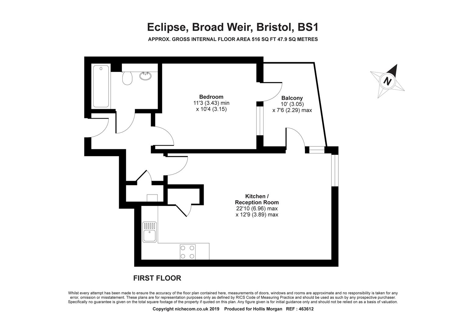 Floorplans For Broad Weir, City Centre