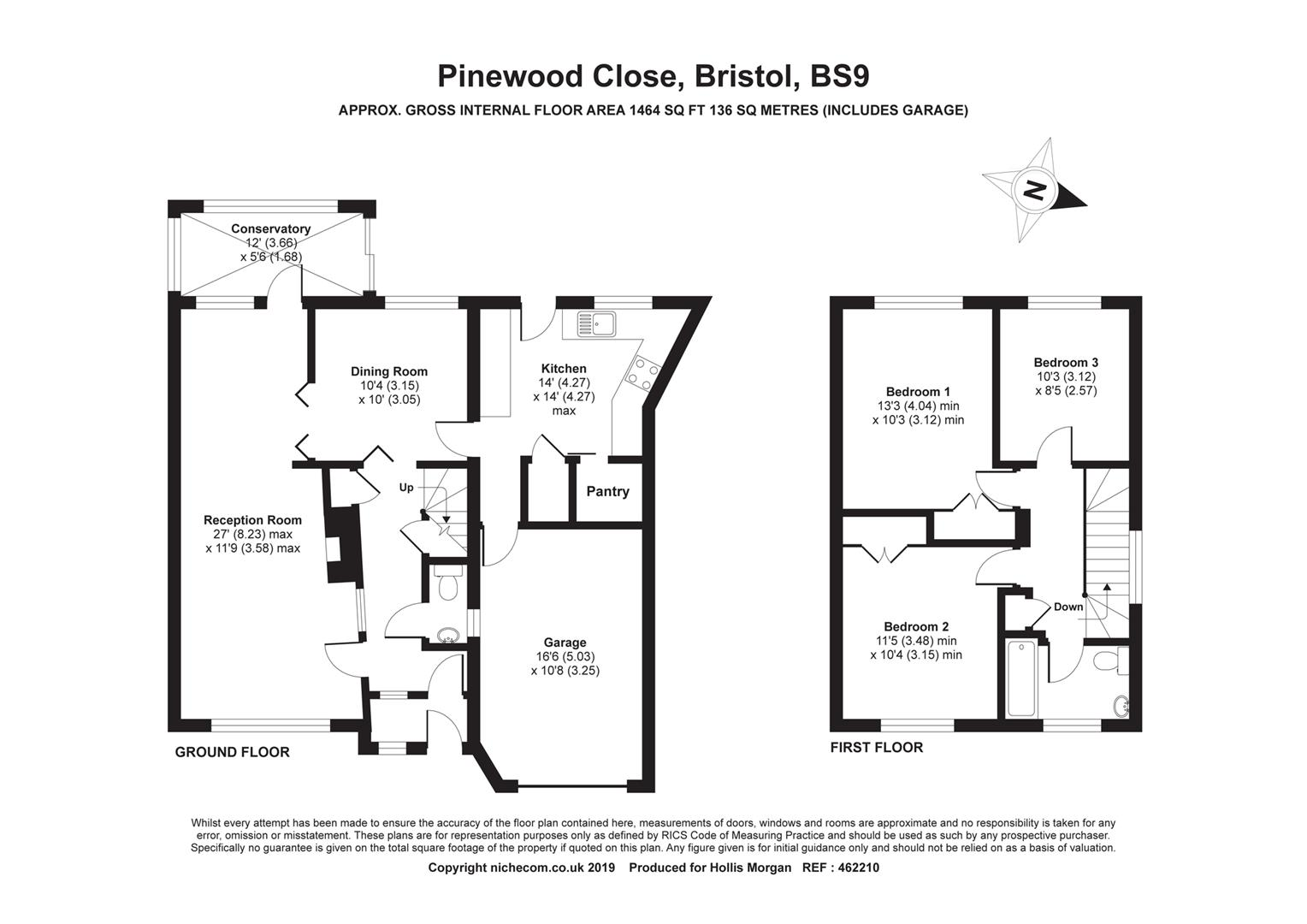 Floorplans For Pinewood Close, Westbury On Trym