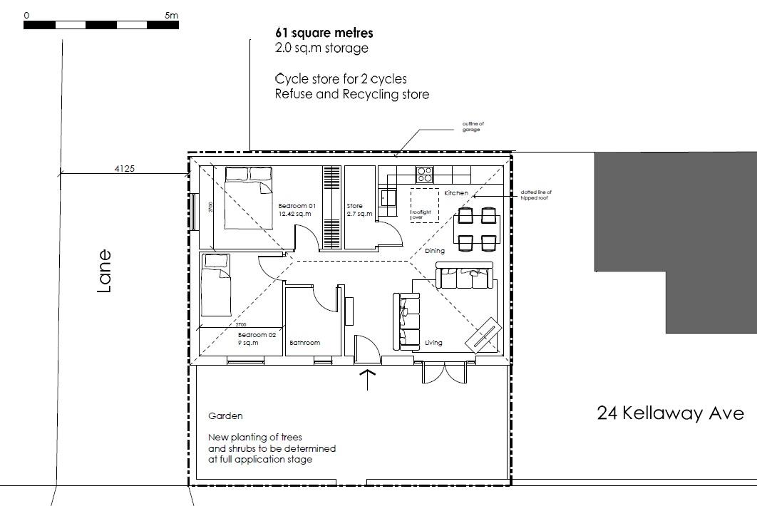 Floorplans For PLANNING GRANTED - 2 BED
