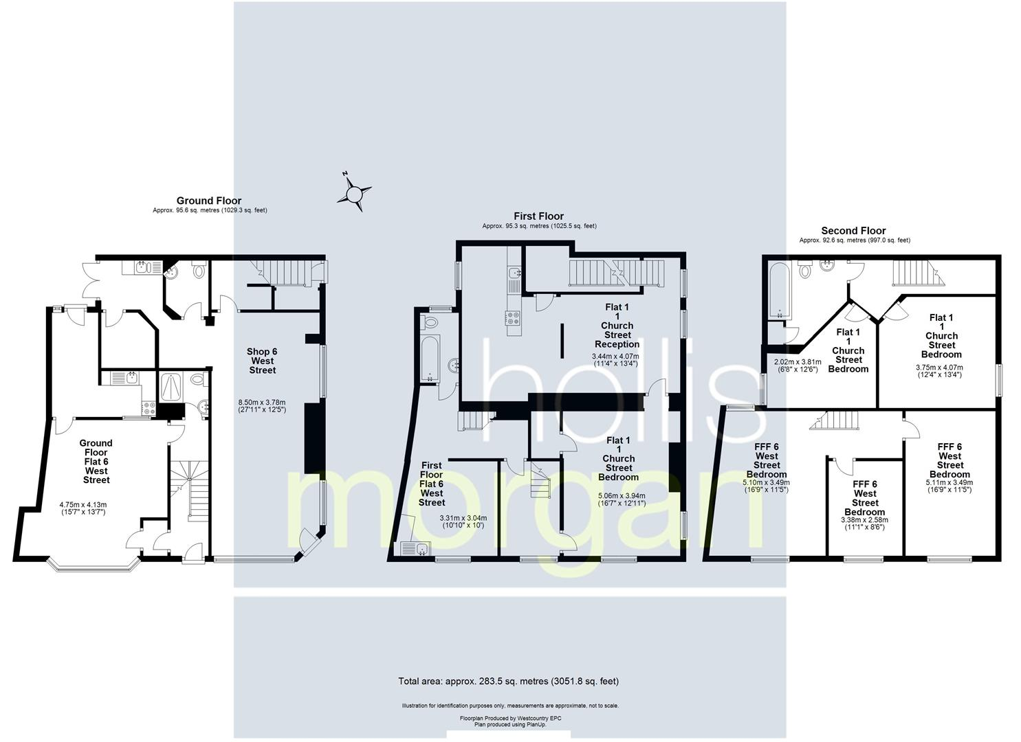 Floorplans For BLOCK OF FLATS - UPDATING / INVESTMENT