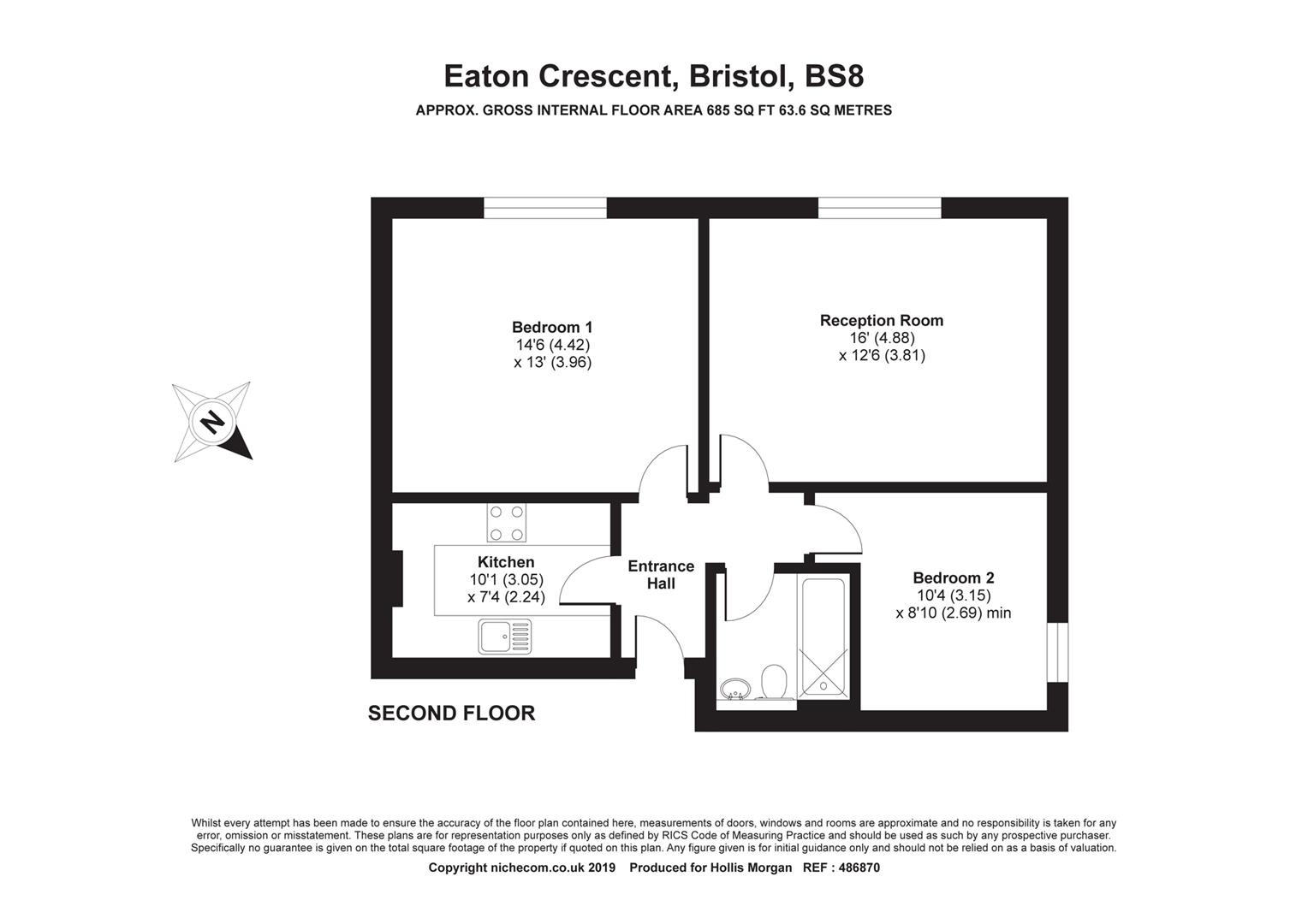 Floorplans For Eaton Crescent, Clifton