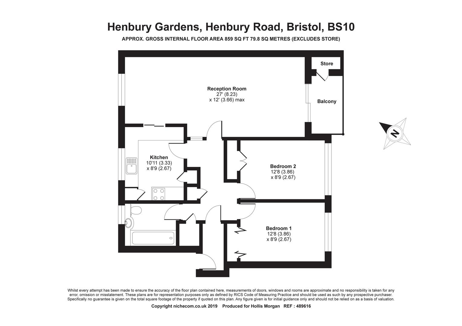 Floorplans For Henbury Road, Henbury