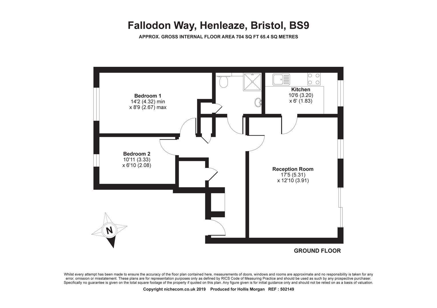 Floorplans For Fallodon Court, Henleaze