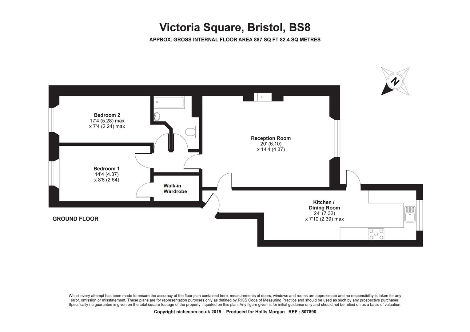 Floorplans For Victoria Square, Clifton