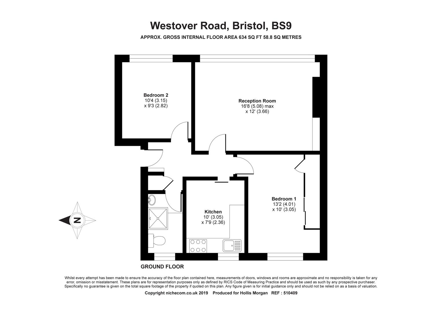 Floorplans For Westover Road, Westbury-On-Trym