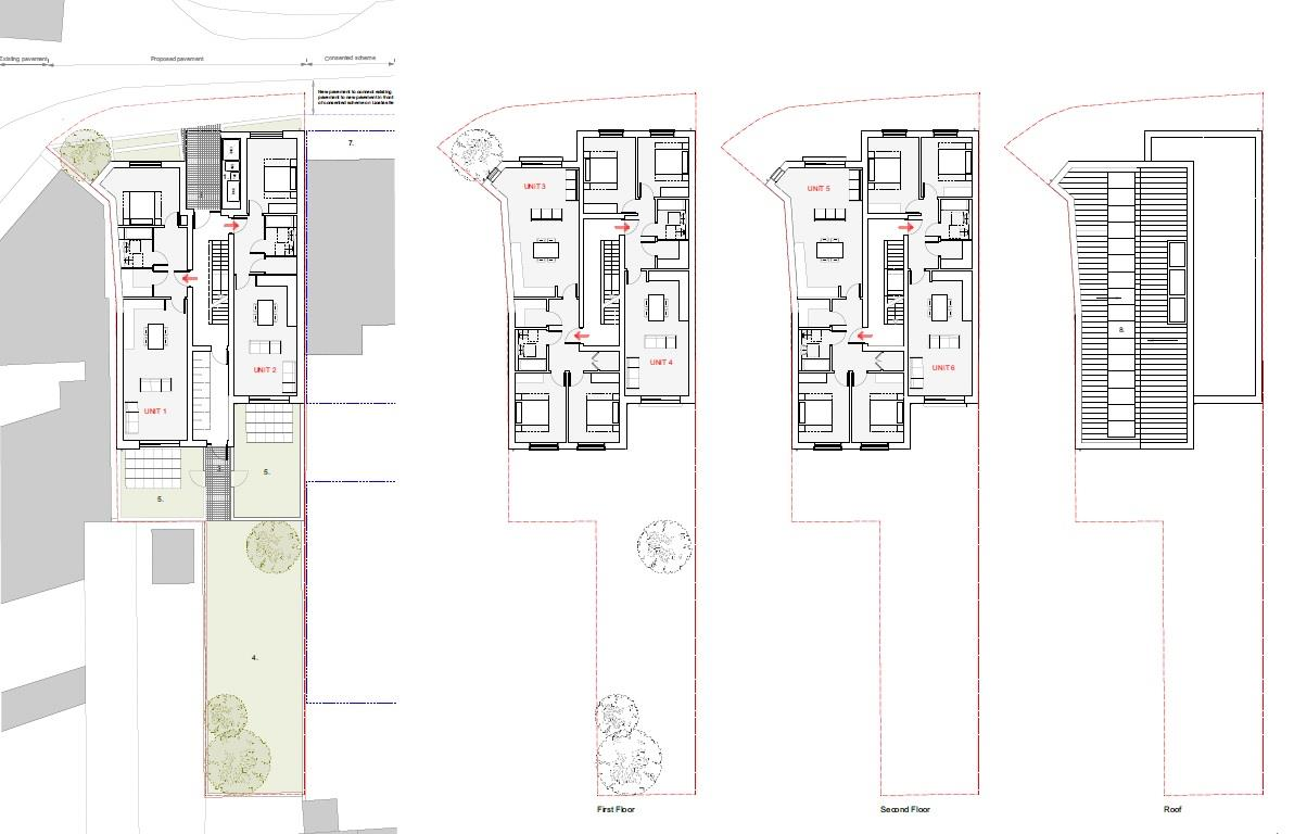 Floorplans For PLOT - PLANNING GRANTED 6 UNITS