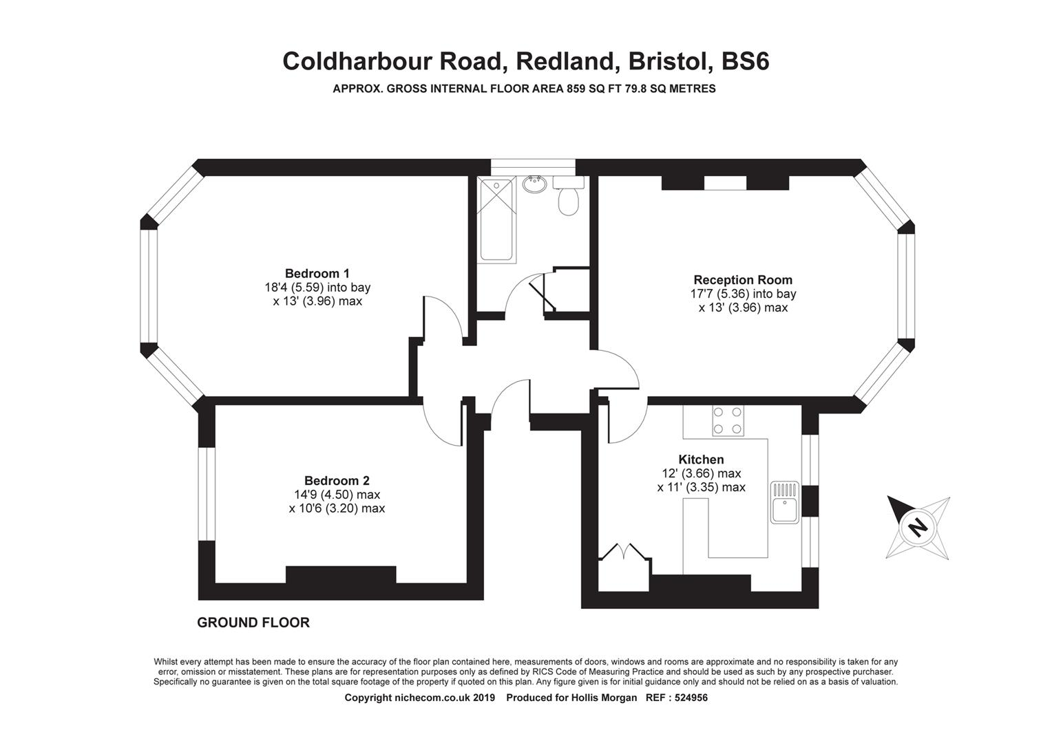 Floorplans For Coldharbour Road, Redland