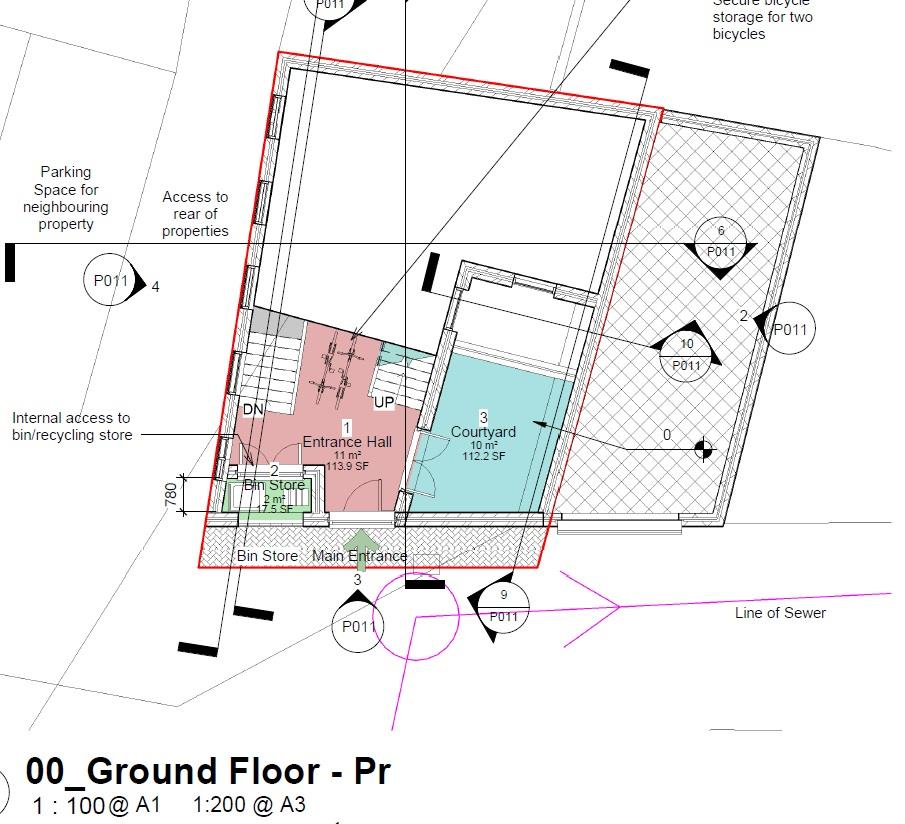 Floorplans For PLOT - PLANNING GRANTED - 2 BED HOUSE