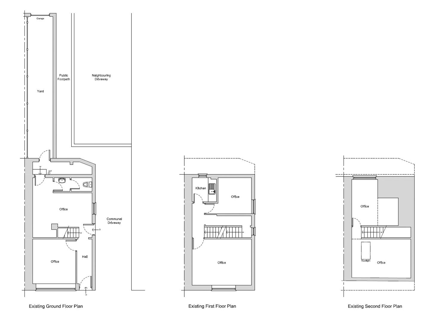 Floorplans For PLANNING GRANTED - 3 FLATS