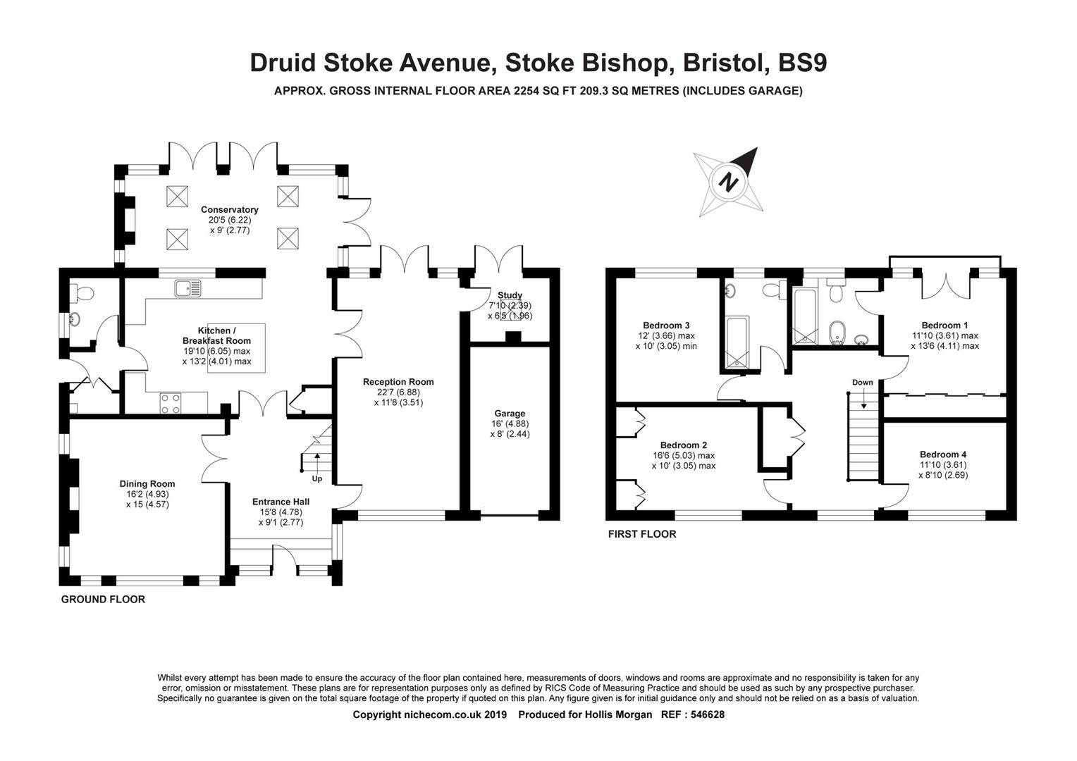 Floorplans For Druid Stoke Avenue, Stoke Bishop