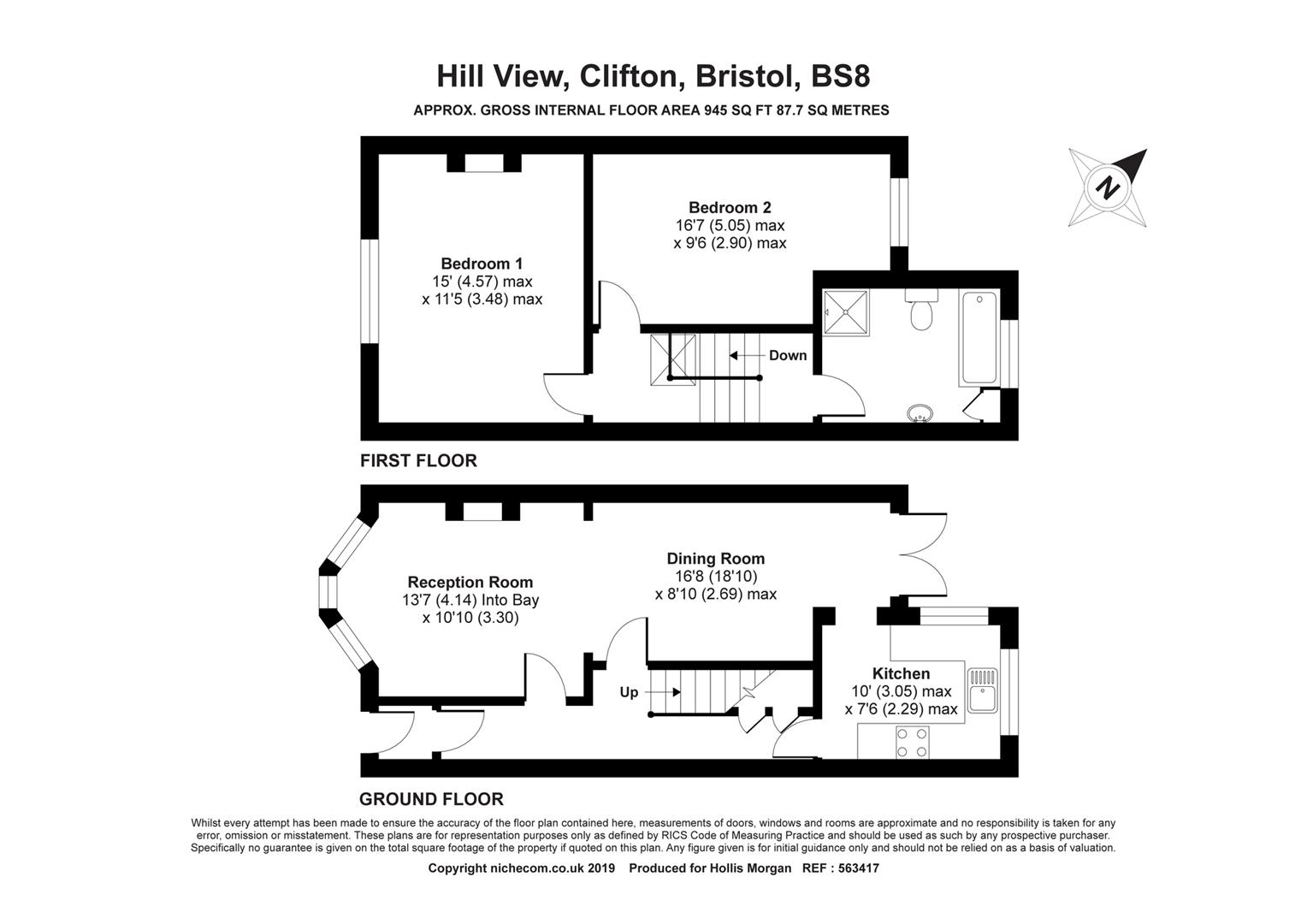 Floorplans For Hill View, Cliftonwood