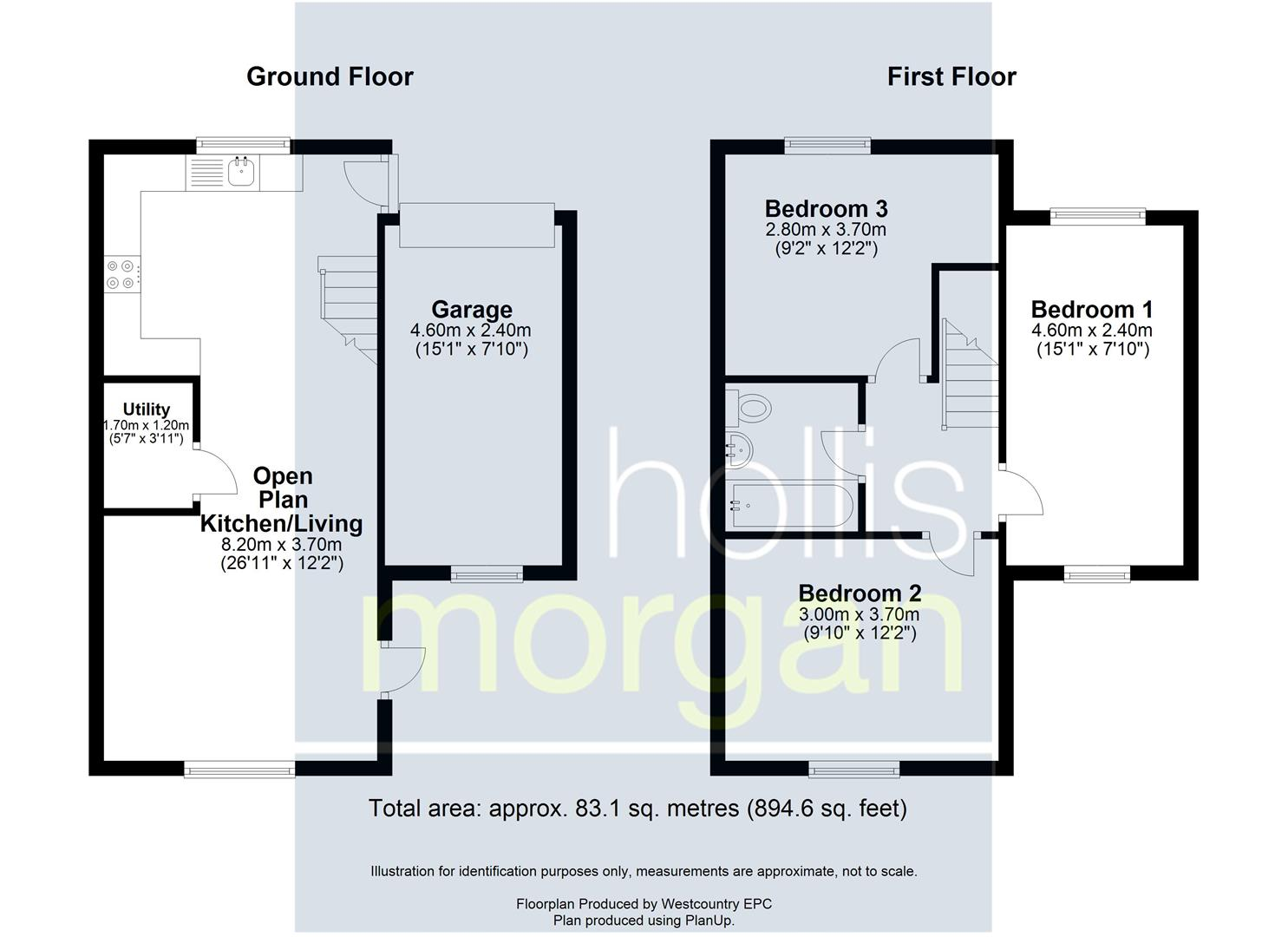 Floorplans For REDUCED PRICE FOR AUCTION - TOTTERDOWN