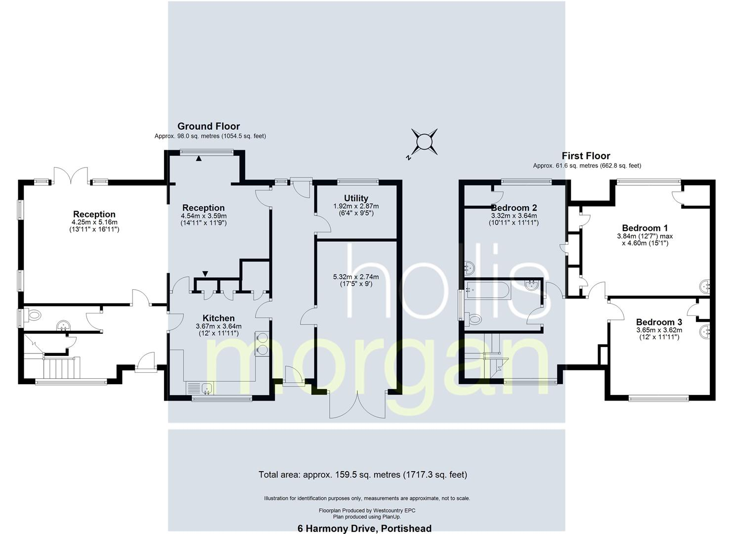 Floorplans For DETACHED HOUSE FOR MODERNISATION - PORTISHEAD