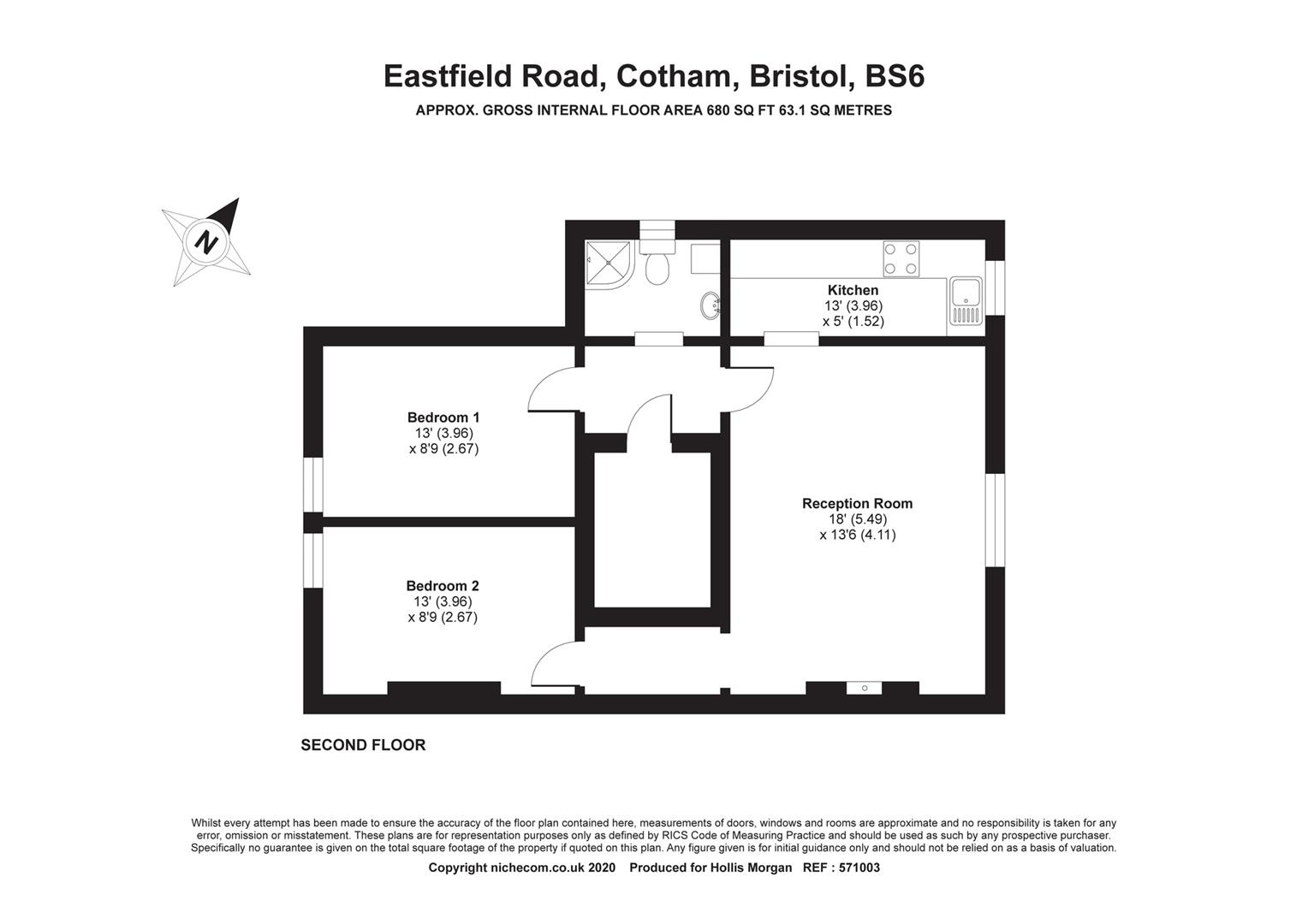 Floorplans For Eastfield Road, Cotham