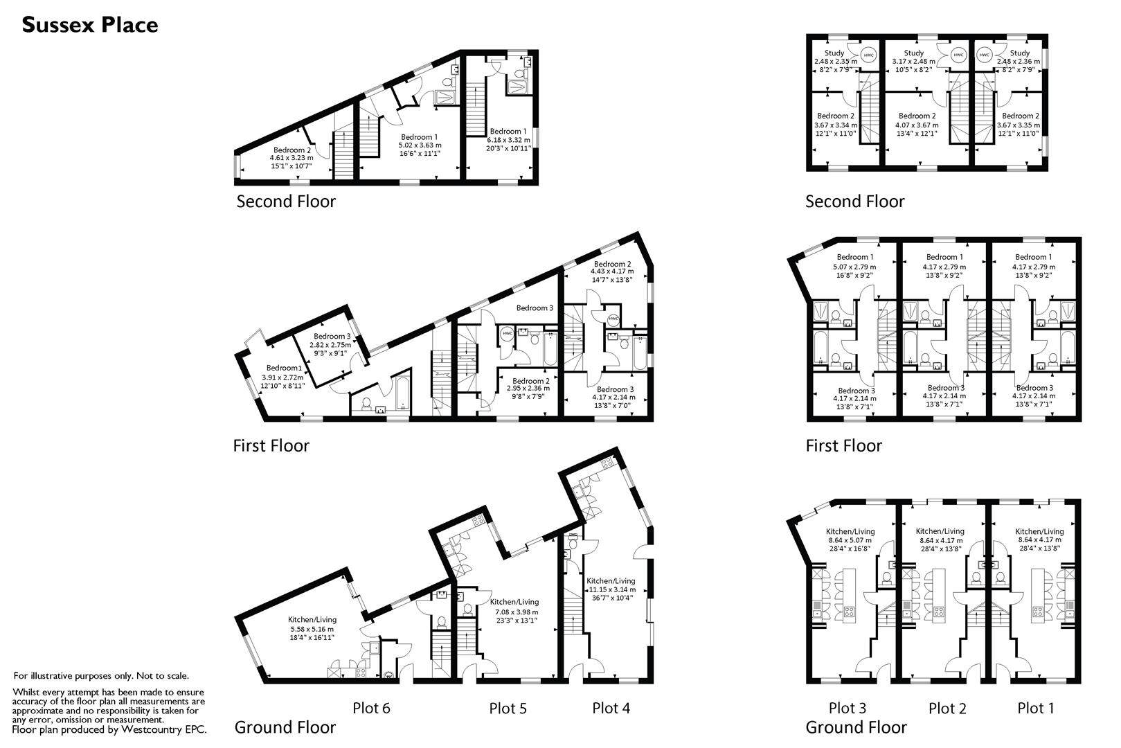Floorplans For Sussex Mews, St Werburghs