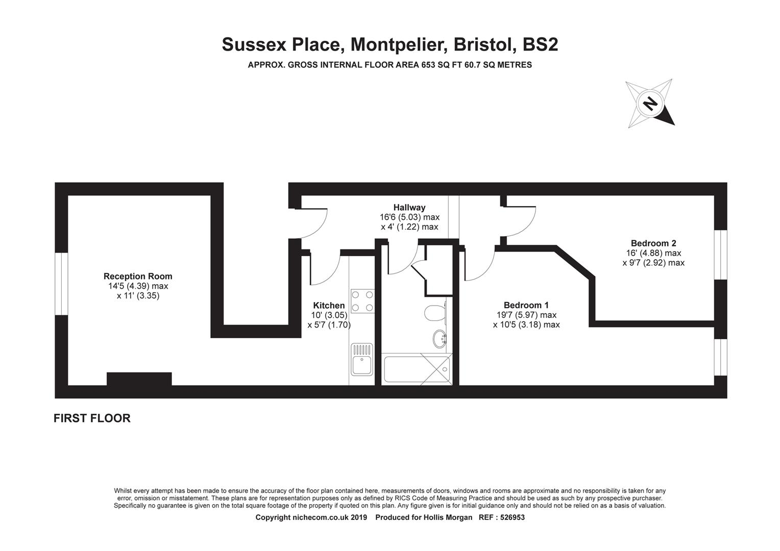Floorplans For Sussex Place, Montpelier