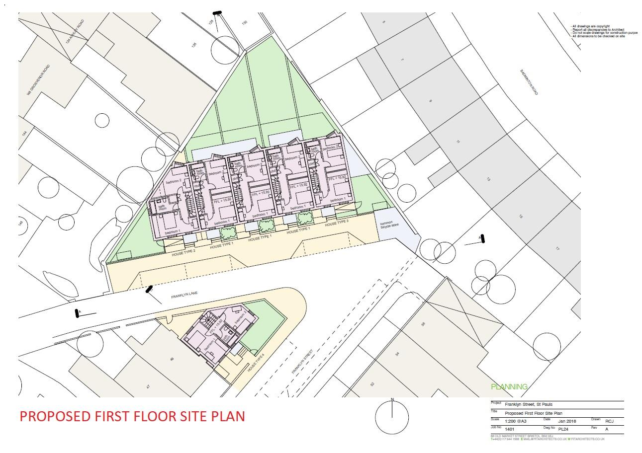Floorplans For PLANNING GRANTED - 6 TOWNHOUSES