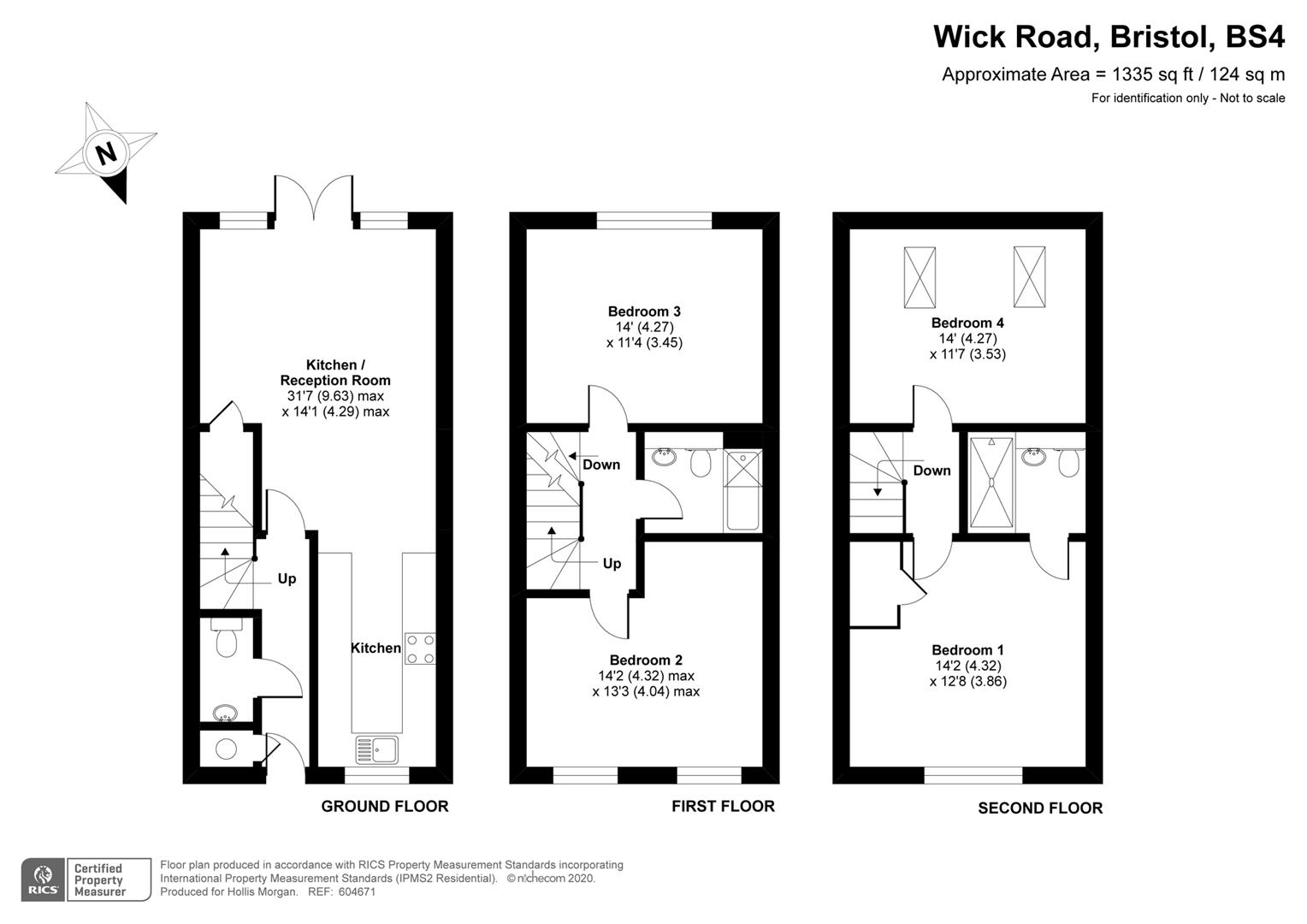 Floorplans For Wick Road, Brislington