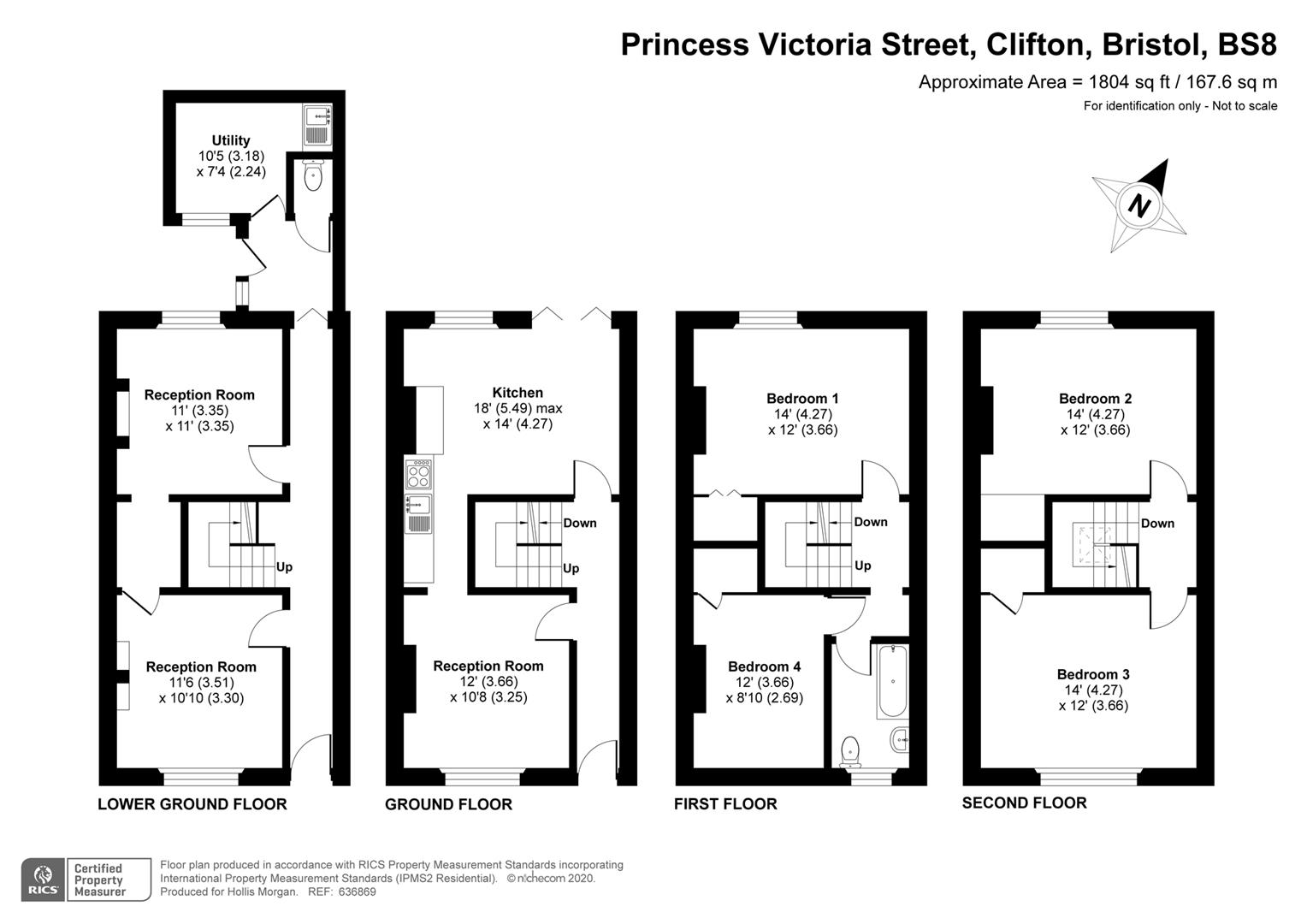 Floorplans For Princess Victoria Street, Clifton