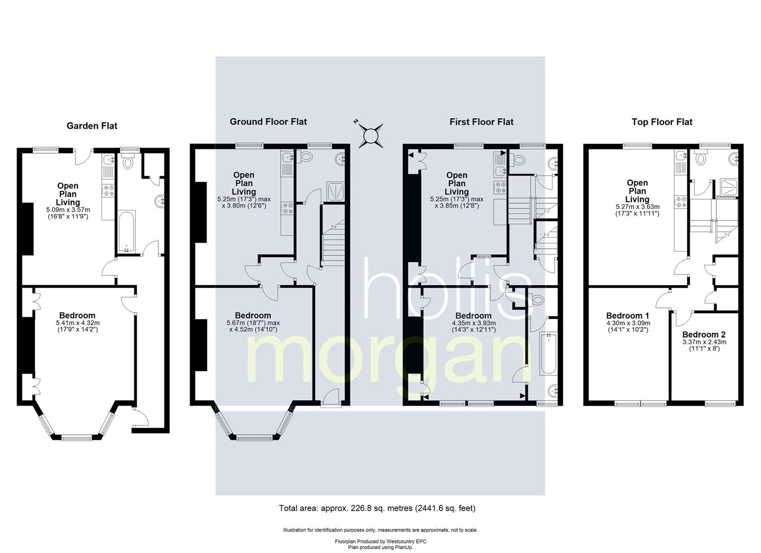 Floorplans For FREEHOLD BLOCK OF 4 FLATS - REDLAND