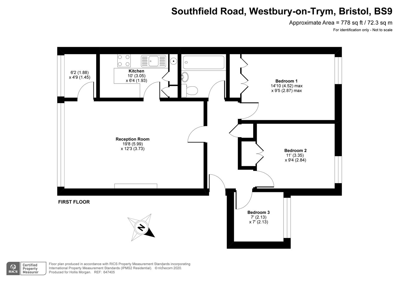 Floorplans For Southfield Road, Westbury-On-Trym