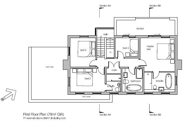 Floorplans For DERELICT HOUSE - PLANNING NEW DETACHED