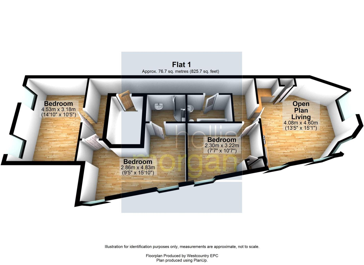 Floorplans For RENOVATED 3 BED FLAT - BS3