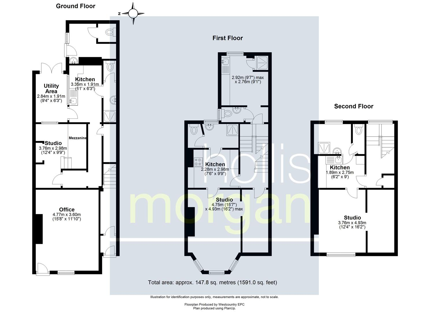 Floorplans For 3 FLATS + OFFICE - WSM