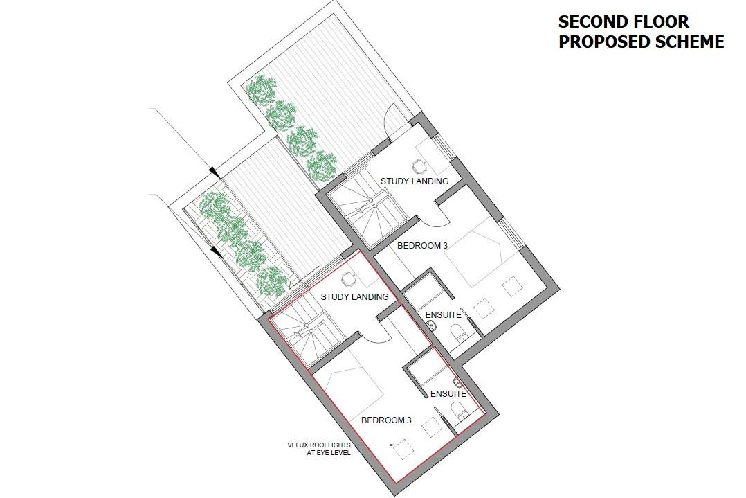 Floorplans For PLANNING GRANTED - 2 X TOWNHOUSES