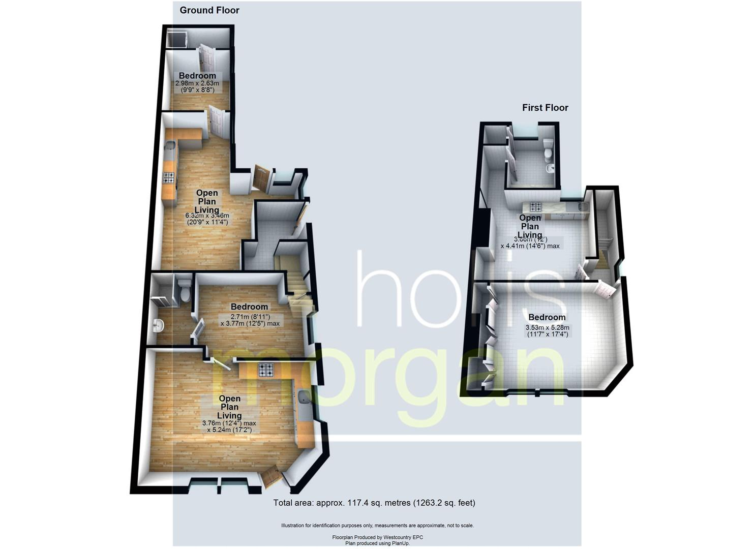 Floorplans For BLOCK OF 3 FLATS - FISHPONDS