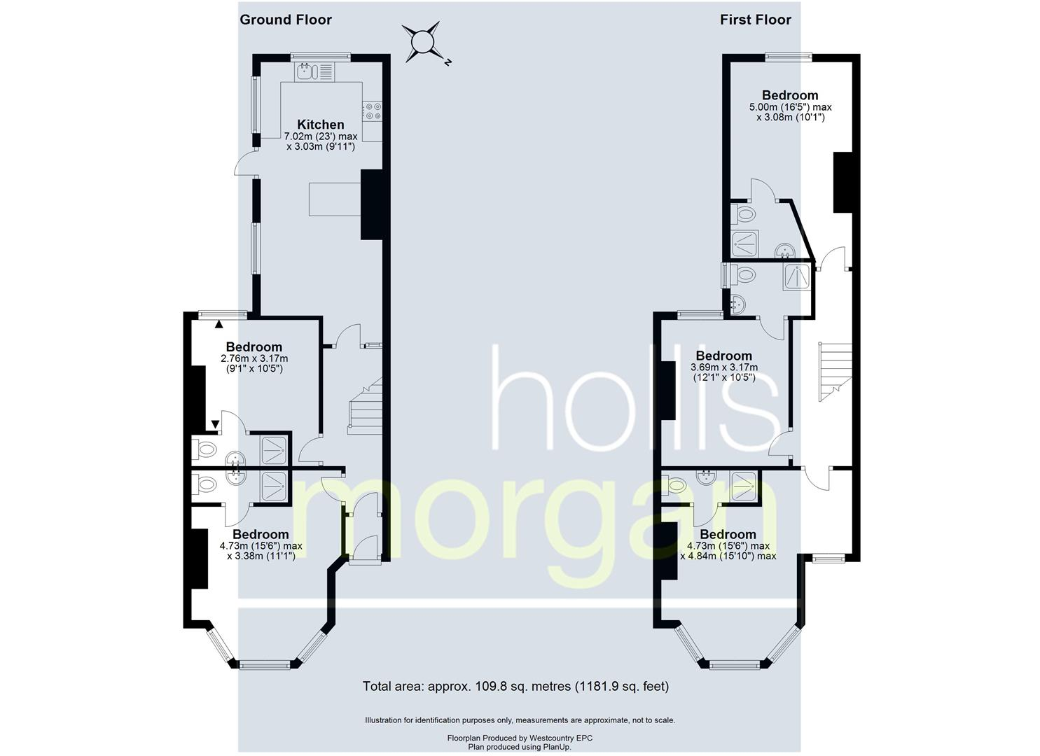 Floorplans For 5 BED HMO - SOUTHVILLE ( £37K )