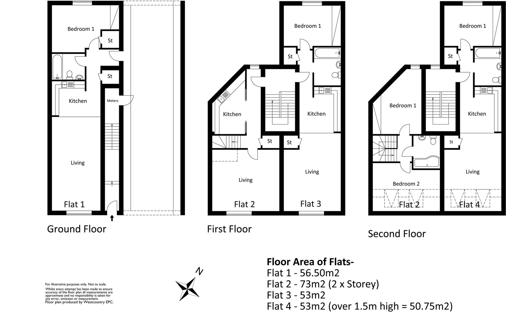 Floorplans For Sion Court, Bedminster