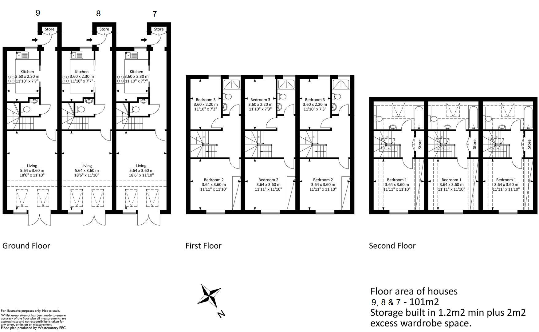 Floorplans For Sion Close, Bedminster