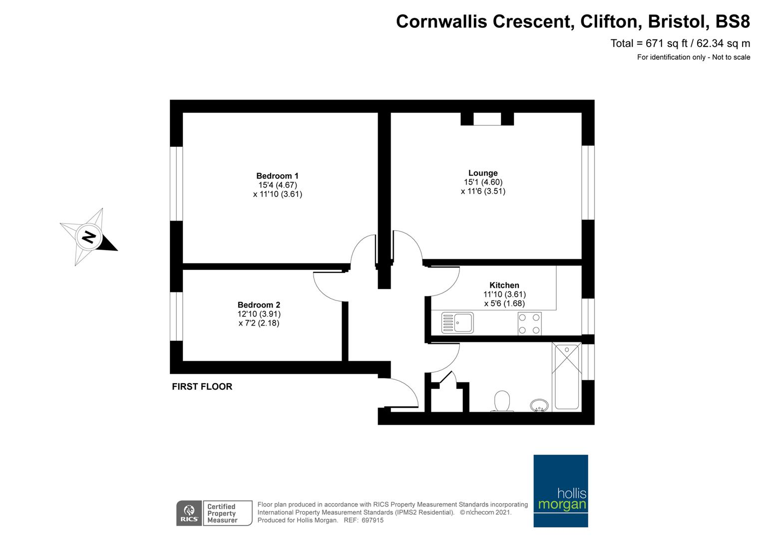 Floorplans For Cornwallis Crescent, Clifton