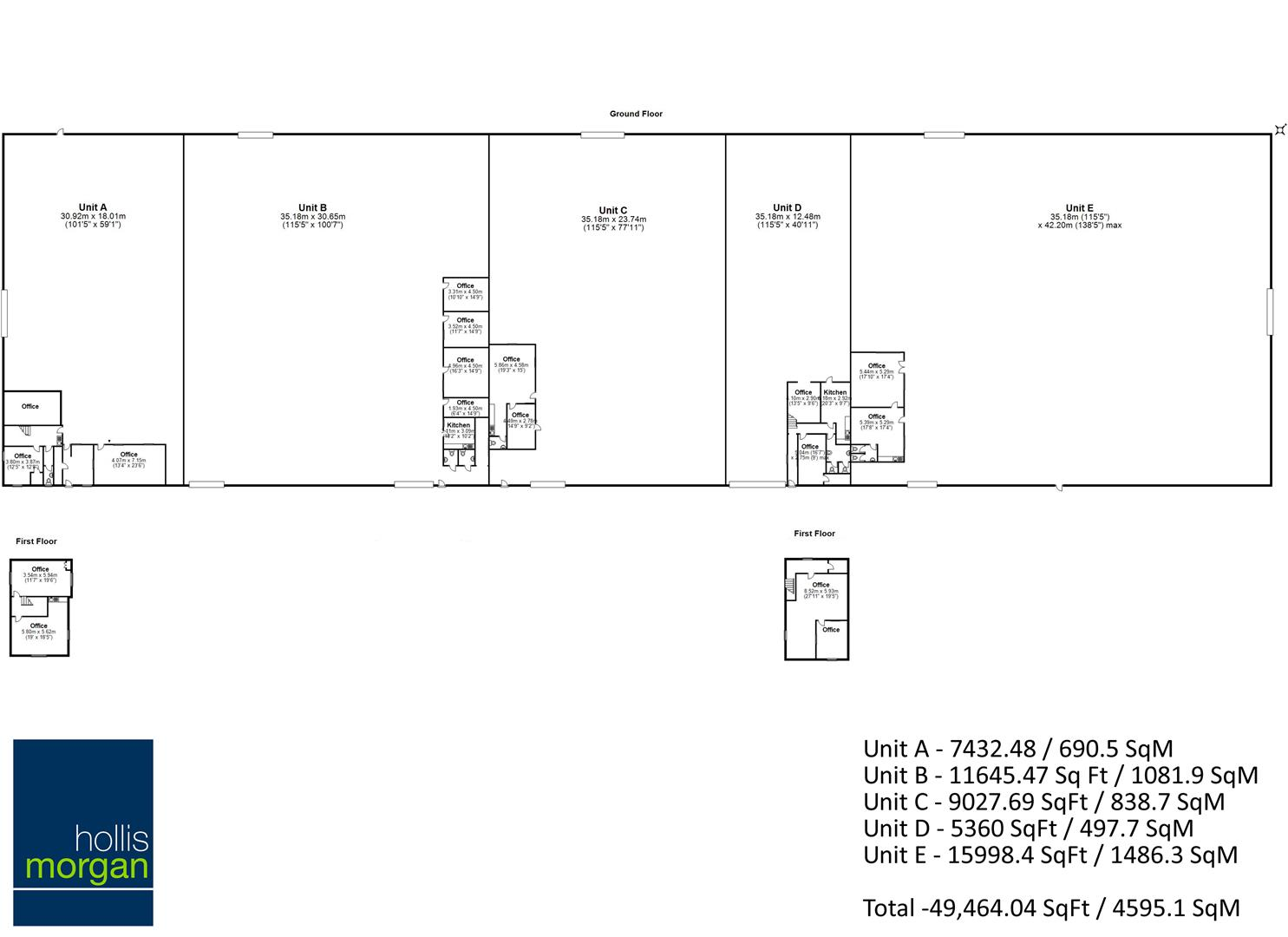 Floorplans For COMMERCIAL INVESTMENT - £152k GROSS INCOME PA