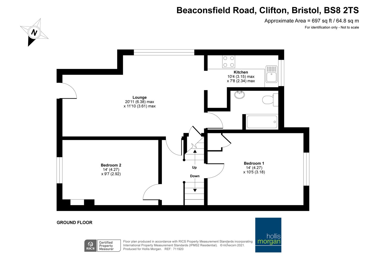 Floorplans For Beaconsfield Road, Clifton